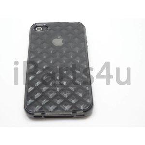 Bumper iPhone 4/4S Case Diamant Zwart Transparant