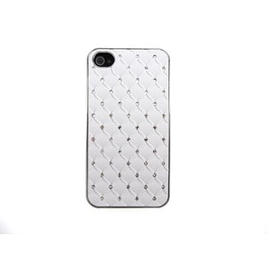 Hardcover Case Strass Steentjes iPhone 4S & 4 Wit