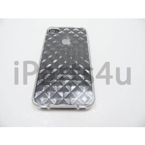 iPhone 4/4s Bumper Case Siliconen Diamant Transp
