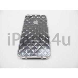 iPhone 4/4s Bumper Case Siliconen Diamant Transp