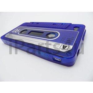 Retro Cassettebandje Hoesje iPhone 4 & 4S Blauw