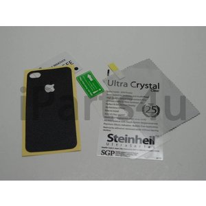 Skin Guard Zwart en Screenprotector iPhone 4 & iPhone 4S
