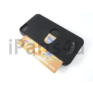 Card Case voor iPhone 4 & iPhone 4S Zwart