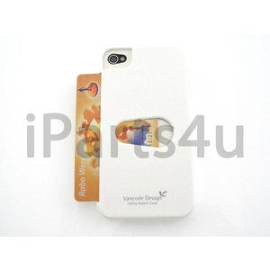 Card Case voor iPhone 4 & iPhone 4S Wit