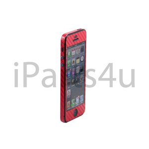 Carbon Skin iPhone 5/5S Rood