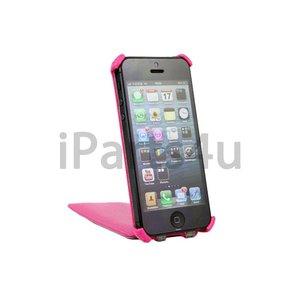 Flip Case iPhone 5/5S Klaphoesje Roze Leer