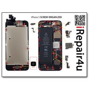 Screworganizer iPhone 5 Schroef Mat Overzicht