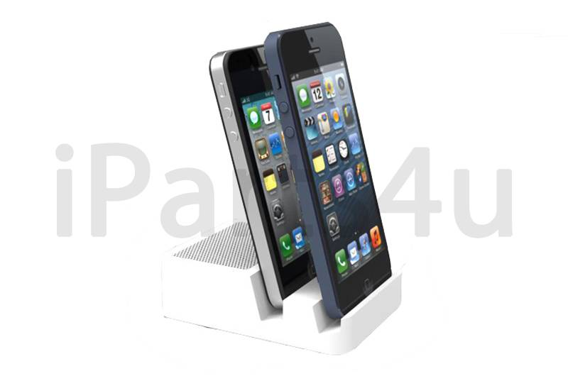 Dual lightning docking station iPhone 4, 5/5S Bluetooth speaker thumbnail