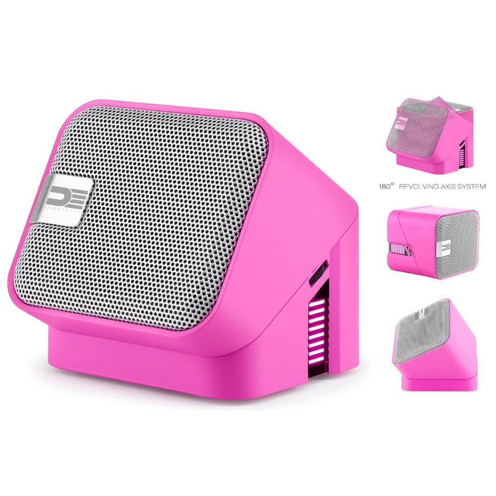 Democracy Draaibare Bluetooth Speaker Roze thumbnail