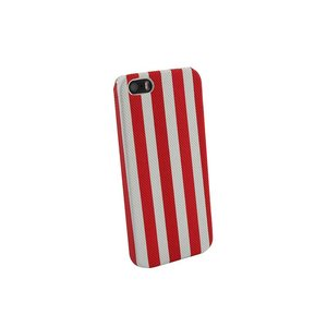 Hardcover Snap Case hoesje iPhone 5 & 5S strepen rood
