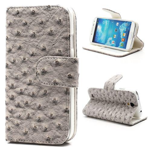 Bookcase samsung galaxy s4 struisvogel grijsdit bookcase samsung galaxy s4 struisvogel grijs hoesje voor de ...