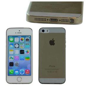 Ultra Dun iPhone 5/5S hoesje Bescherming Uitgangen Zwart Transp