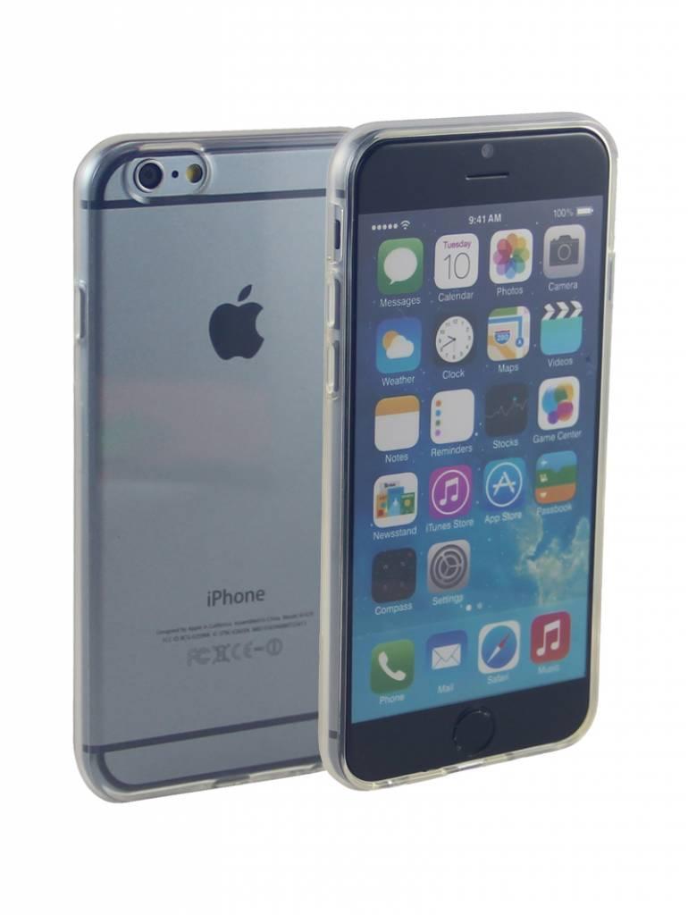 Siliconen Gel TPU iPhone 6 en 6S Hoesje Transparant afbeelding
