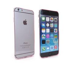 Ultra Dun Siliconen Gel Hoesje iPhone 6 Roze Transparant