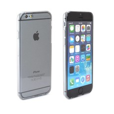 Ultra Dun Siliconen Gel Hoesje iPhone 6 Zwart Transparant