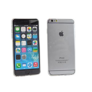 Ultra Dun Siliconen Gel Hoesje iPhone 6 Plus Zwart Transparant