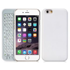 Toetsenbord Case iPhone 6 en 6S Keyboard Hoesje met Backlight Wit