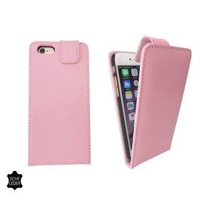 Lederen Klap Hoesje Flip Case Hoesje iPhone 6 en 6S Roze