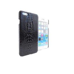 Krokodil Hardcover Snap Case iPhone 6 Plus Croco Zwart