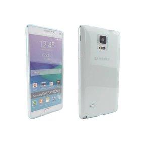 Ultra Dun Siliconen Gel Hoesje Samsung Note 4 Baby Blauw Transp.