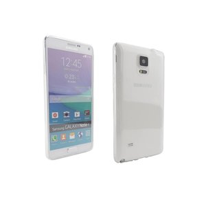 Ultra Dun Siliconen Gel Hoesje Samsung Note 4 Transparant