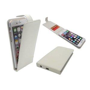 Lederen Klap Hoesje iPhone 6 en 6S Flip Case Wit