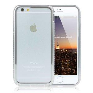 iPhone 6 en 6S Bumper Zilver Diamantjes