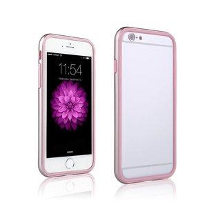 iPhone 6 en 6S Dubbele Bumper Rose Goud Roze