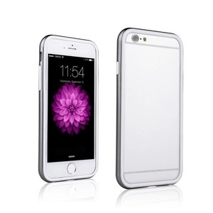iPhone 6 Dubbele Bumper Zilver Wit