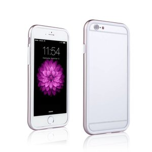 iPhone 6 en 6S Dubbele Bumper Rose Goud Wit