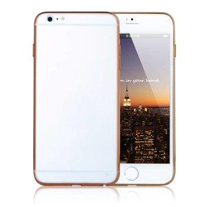 iPhone 6 Ultra Dunne Bumper case Transparant Oranje Zijkanten