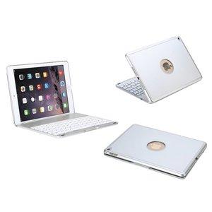 Toetsenbord iPad Air 2 / iPad Pro Hoes Note Kee Wit