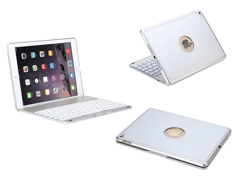 Dagaanbieding: Toetsenbord iPad Air 2 / iPad Pro Hoes Note Kee Wit