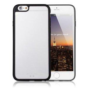 iPhone 6/6S Bumper Case Zwarte Zijkant Transparant