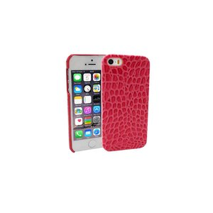 iPhone 5/5S Hardcover Case Hoesje Krokodil Roze