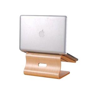 MacBook Standaard Licht Bamboe Hout