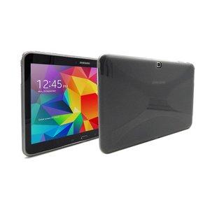 Samsung Galaxy Tab 4 10.1 Hoes Siliconen Gel Zwart Transparant