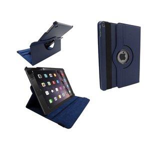 iPad Air 2 Leder Hoes Draaibaar 360 Graden Donker Blauw