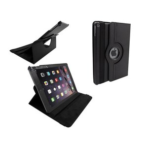 iPad Air 2 Leder Hoes Draaibaar 360 Graden Zwart