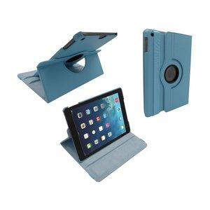 iPad Air Leder Hoes Draaibaar 360 Graden Licht Blauw