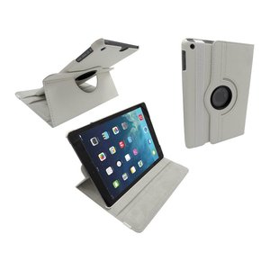 iPad Air Leder Hoes Draaibaar 360 Graden Wit
