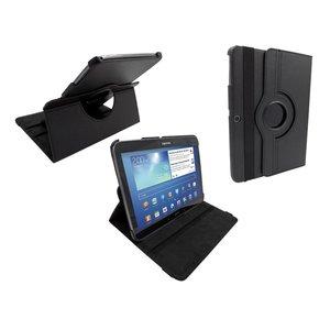 Samsung Galaxy Tab 3 Leder Hoes Draaibaar 360 Graden Zwart