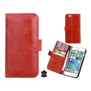 iPhone 6 en 6S Bookcase Hoesje Leder Cognac Bruin