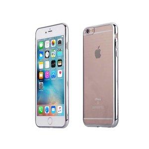 iPhone 6 en 6S Bumper Case Siliconen Ultra Dun Zilver