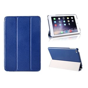 iPad Mini 4 Smart Case Hoes Leder Donker Blauw