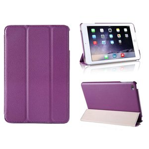 iPad Mini 4 Smart Case Hoes Leder Paars