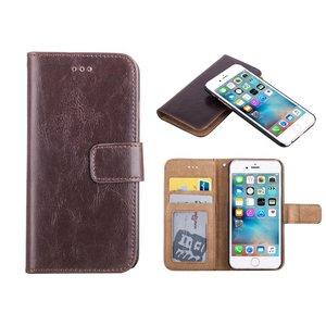 iPhone 6 en 6S Bookcase Hoesje Uitneembaar 2 in 1 Bruin