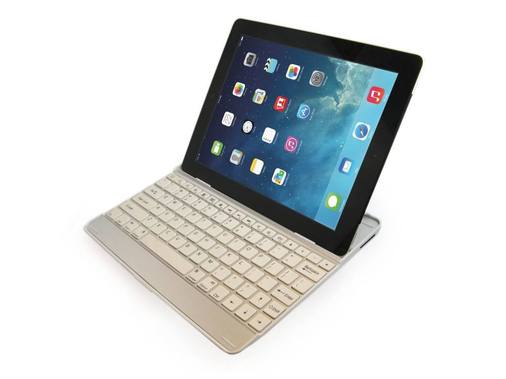 Dagaanbieding: iPad Air Aluminium Toetsenbord Keyboard Case Wit