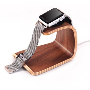 Apple Watch Docking Station Standaard Donker Bamboe