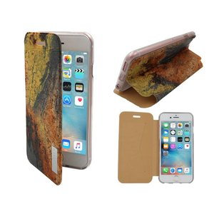 iPhone 6 en 6S Bookcase Hoesje Siliconen Kurk